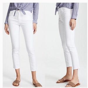 MOTHER Looker Crop Skinny Jeans Mirror Mirror